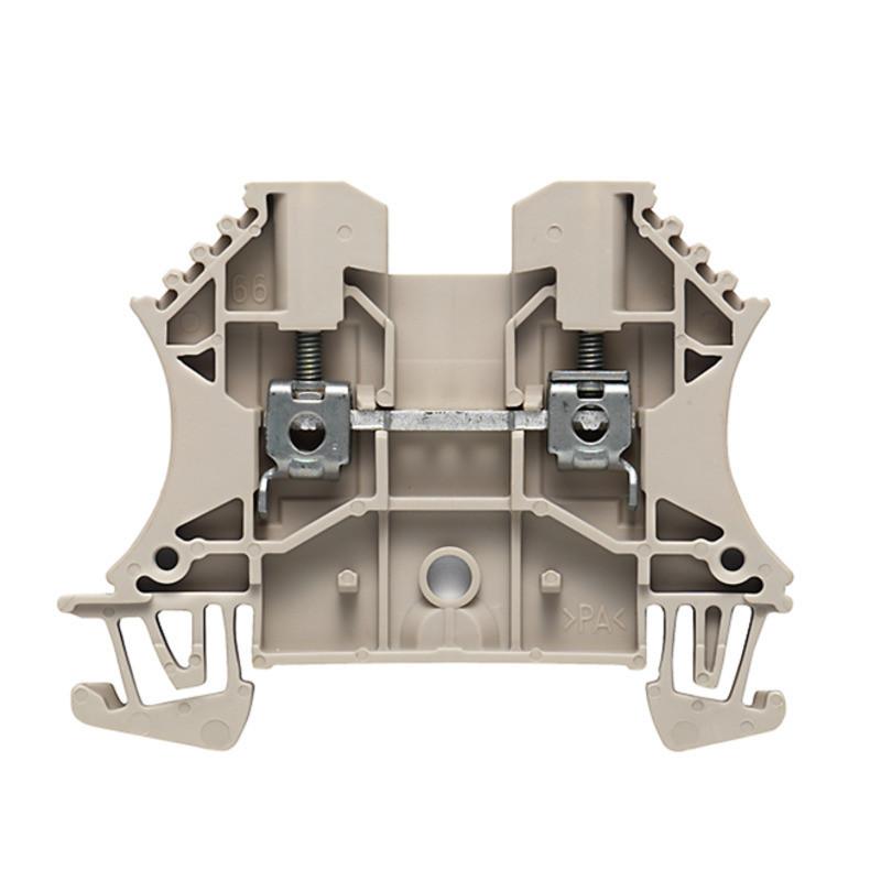 Weidmuller, 1020000000, WDU2.5, Feed-through Terminal, Screw Connection, 2.5mm², 800 Volt, 24 Amps, Dark Beige