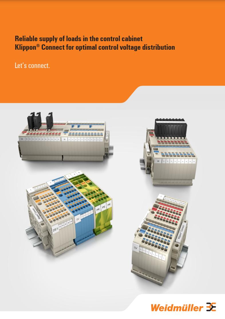Weidmuller Klippon Control Voltage Brochure