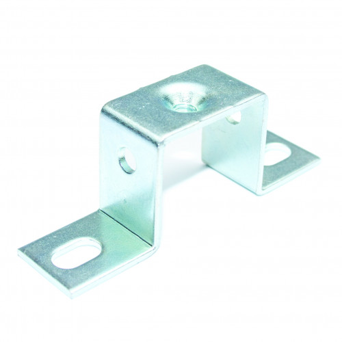 Square Mounting Bracket, 20mm High, M6 Threaded, Zinc Plated Steel