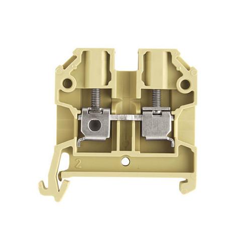 Weidmuller, SAK4/35 Screw Clamp Terminal, Beige, 4.0mm