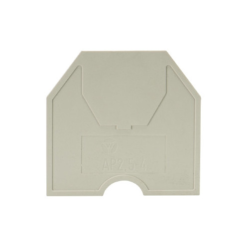 Wieland, 07.311.0255.0, AP 6, End Plate, Grey, To Suit WK Terminals 6.0mm