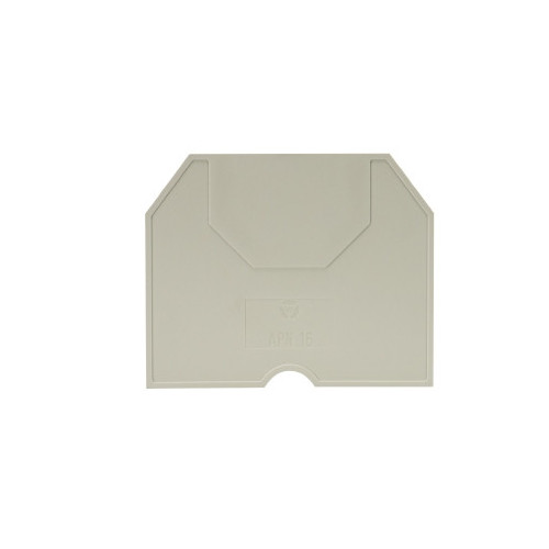 Wieland, 07.311.6755.0, APN 16, End Plate, Grey, To Suit WKN Terminals 16.0mm