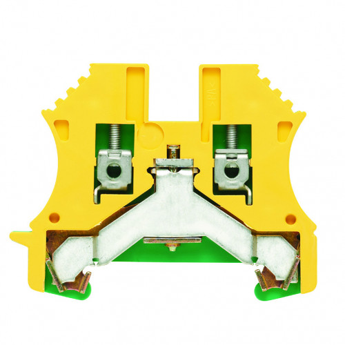 Weidmuller, WPE Screw Clamp Earth Terminal, Green/Yellow, 2.5mm