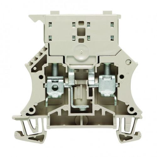 Weidmuller, WSI 5 x 20 Fused Feed-through Screw Clamp Terminal, Grey, 6.0mm, Maximum 6.3 Amps (IEC) 10 Amps (UL)