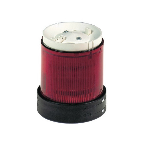 Schneider Electric, Illuminated LED Unit For 70mm Ø Modular Tower Lights, Red, Flashing, 120V AC
