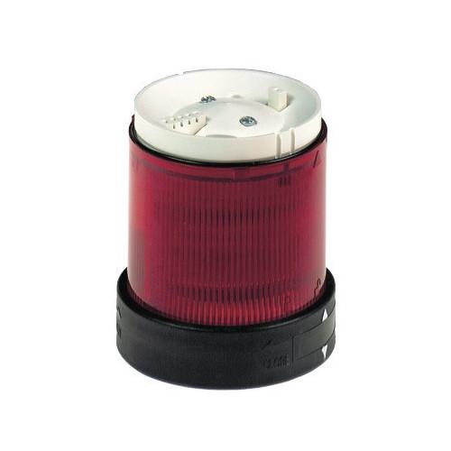 Schneider Electric, XVBC5G4, Illuminated LED Unit For 70mm Ø Modular Tower Lights, Red, Flashing, 120V AC