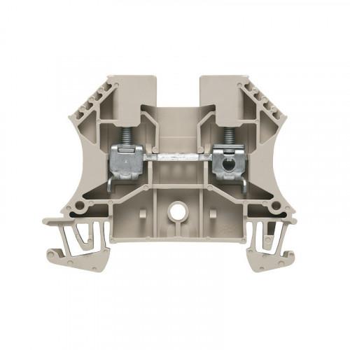Weidmuller, WDU Screw Clamp Terminal, Dark Beige, 4mm