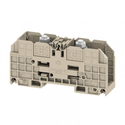 Weidmuller, 1028300000, WFF35 Double Stud Terminal Block, 35mm, 2 x M6 Studs, 125 Amps