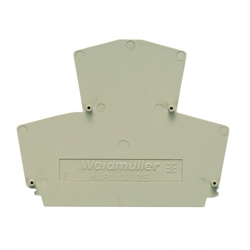 Weidmuller, WAP End Plate, To Suit 2.5mm Double Deck Terminal