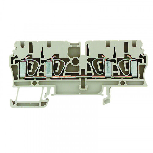 Weidmuller, 1608570000, ZDU2.5/4AN, Feed-through terminal block block