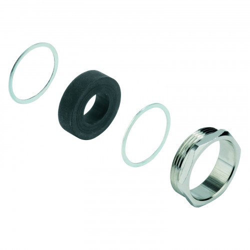 Weidmuller, Rockstar HE Pressure Cable Glands, Nickel Plated Brass,Thread Size M25, Cable Entry Ø 11.5 - 18mm², IP68