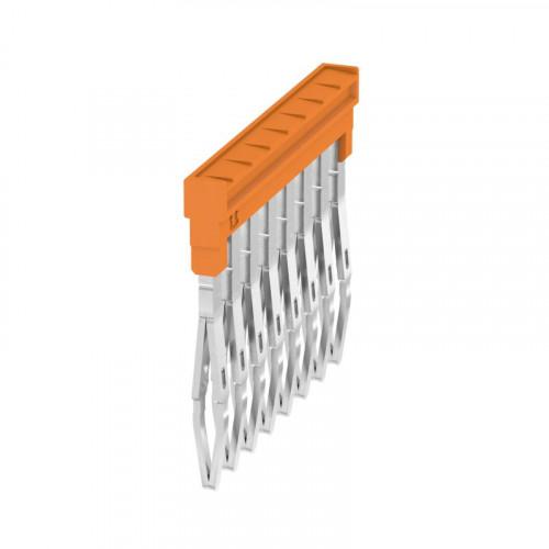 Weidmuller, ZQV 1.5N/ 8 Way Cross-connector Orange