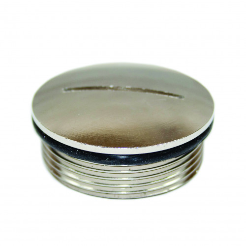 M63 Nickel Plated Brass Domed Top Blanking Plug IP68