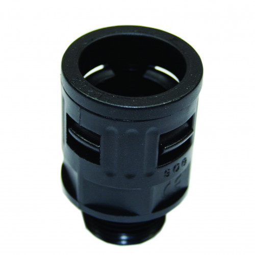 M12, Black, Quick Fit External Gland, Nylon PA66, Fixed Type, To Suit GSC-10B(OSPP09)