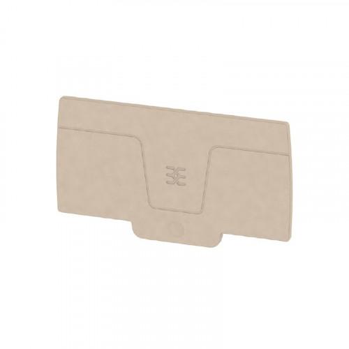Weidmuller, 2490380000, AEP2C10/16, A-series, End Plate, Dark Beige