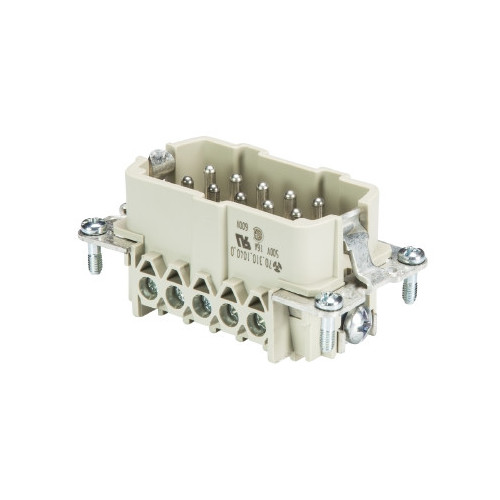 Wieland, 70.310.1040.0, BAS STS 10 2,5 50, revos BASIC Insert, Male, 10 Way + Earth, Size 10, 16 Amps