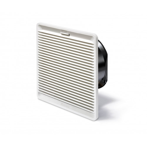 Finder, 7F.50.8.230.5630, Filter Fan, Size 5, 630m³/h, 230V AC, IP54, Snap In Fixing, Overall Dimensions 320mm x 320mm x 150.5mm, Cut Out 291mm x 291mm, RAL7035,