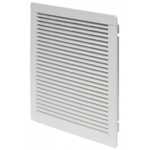 Finder, 7F.05.0.000.5000, Exhaust Filter, Size 5, IP54, Snap In Fixing, Overall Dimensions 320mm x 320mm x 29.5mm, Cut Out 291mm x 291mm, RAL7035,
