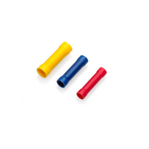 TLA, PVC Insulated Crimp, Yellow Butt Connector, Cable Entry 4.0 - 6.0mm², Pack Of 100