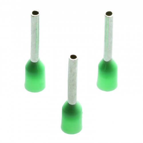 Single Bootlace Ferrule, Cable Entry 6mm², Barrel Length 18mm, Green, Pack of 100