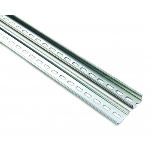 TS35, Deep M6 Slotted Din Rail, Height 35mm, Depth 15mm