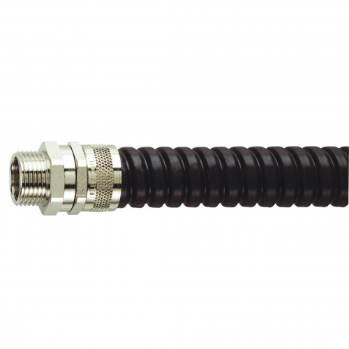 FSU Nickel Plated Brass, Swivel Type, External M16 Threaded Gland, To Suit FSU16 Conduits, IP54