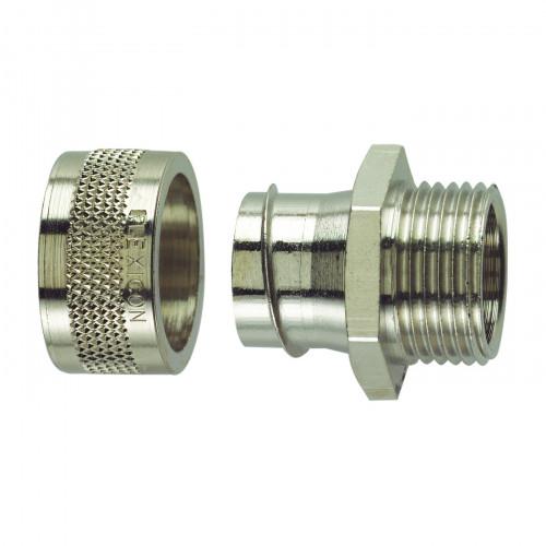 FSU Nickel Plated Brass, Fixed Type, External M12 Threaded Gland, To Suit FSU10 Conduits, IP54