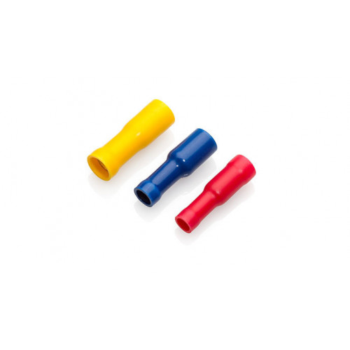 TLA, PVC Insulated Crimp, Red Female Bullet, Cable Entry 0.25 - 1.5mm², Pack Of 100