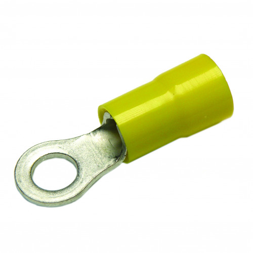 Cembre, GF-M6/1, PVC Insulated Crimp, Ring, Cable Entry 4.0 - 6.0mm², (YELLOW) Stud Ø 6.4mm, Neck Length 8.12mm, Pack of 100,