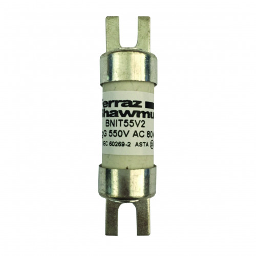 Mersen, BS88 Offset Tag Fuse, A1, 32 Amp, 415 AC / 240V DC, Fixing Centres 44.5mm