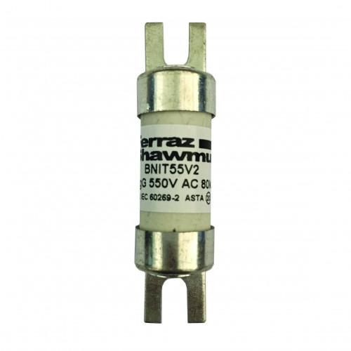 Mersen, BNIT42V32, BS88 Offset Tag Fuse, A1, 32 Amp, 415 AC / 240V DC, Fixing Centres 44.5mm