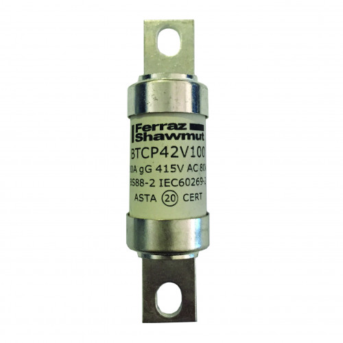 Mersen, BS88 Central Tag Fuse, A4, 125 Amp, 415V AC / 240V DC, Fixing Centres 94mm