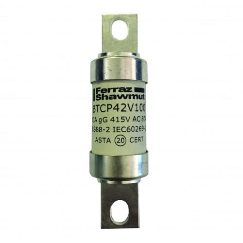 Mersen, BTCP42V125, BS88 Central Tag Fuse, A4, 125 Amp, 415V AC / 240V DC, Fixing Centres 94mm