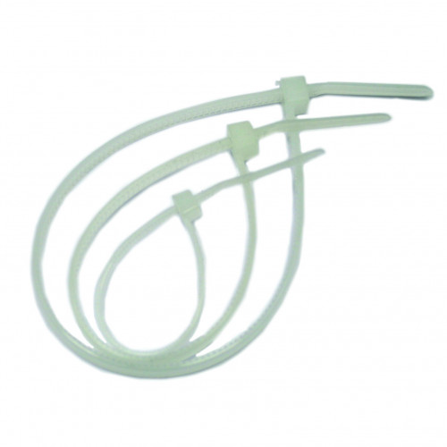 Hellerman, Cable Tie, Nylon Polyamide 6.6, Natural, 100mm x 2.5mm, Pack of 100