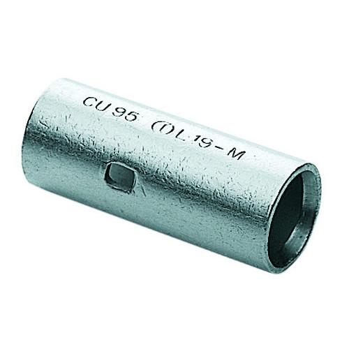 Cembre, L2-M, L-M Copper Tube Through Connector, 10.0mm² Cable Entry, Barrel Length 25mm