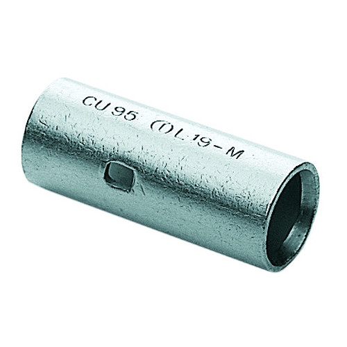 Cembre, L37-M, L-M Copper Tube Through Connector, 185.0mm² Cable Entry, Barrel Length 64mm