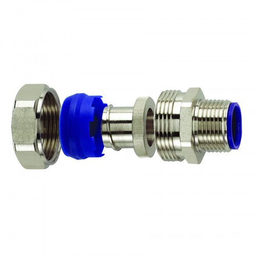 LTP Nickel Plated Brass, Fixed Type, External M40 Threaded Gland, To Suit LTP40 Conduits, IP66/67/68/69K