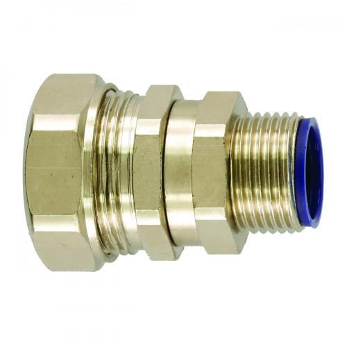 LTP Nickel Plated Brass, Swivel Type, External M16 Threaded Gland, To Suit LTP12 Conduits, IP66/67/68/69K