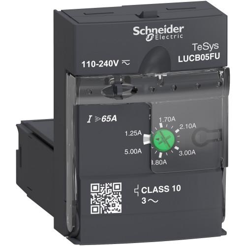Schneider Electric, LUCB Advanced Control Unit, Class 10, 110-240V AC/DC, 1.25 - 5.0 A
