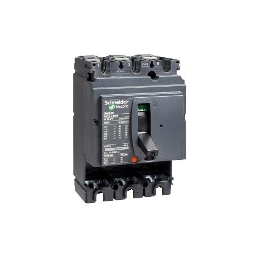 Schneider Electric, LV429006, Compact NSX100N, MCCB, Fixed, Basic Frame, 3 Pole, 100A, 50kA, 415V AC, No Trip Or Protection