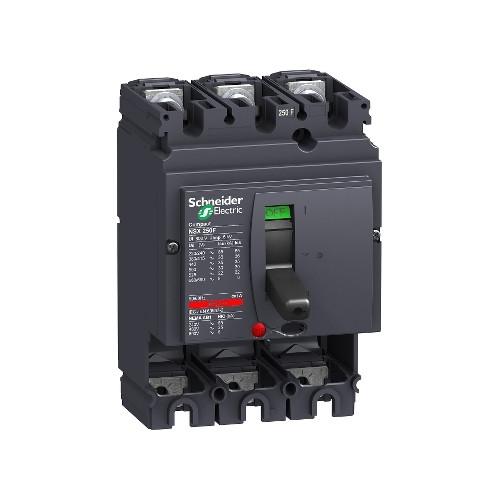 Schneider Electric, LV431403, Compact NSX250F, MCCB, Fixed, Basic Frame, 3 Pole, 250A, 36kA, 415V AC, No Trip Or Protection