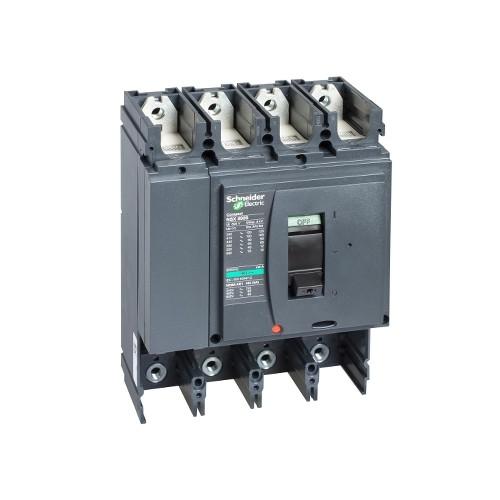 Schneider Electric, LV432408, Compact NSX400N MCCB,Fixed,Basic Frame,No Trip Or Protection,4P,400A,50kA,415V AC