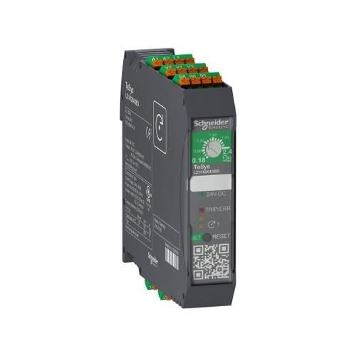 Schneider Electric, LZ1H2X43BD, TeSys H, DOL Starter, 0.75kW, 0.18-2.4 Amp, 24V DC, Spring Terminals