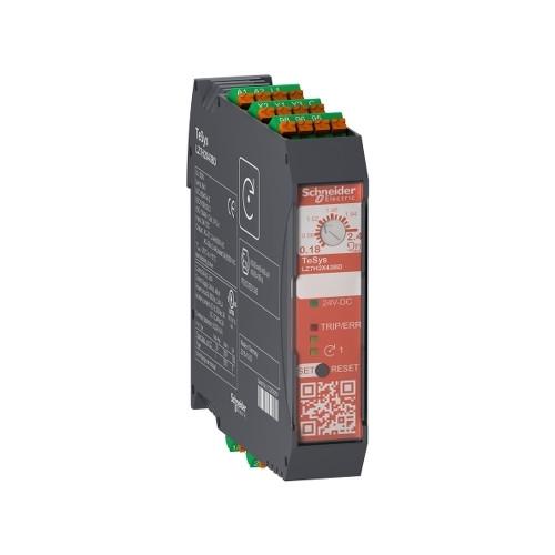 Schneider Electric, LZ7H2X43BD, TeSys H, Safety DOL Starter, 0.75kW, 0.18-2.4 Amp, 24V DC, Spring Terminals