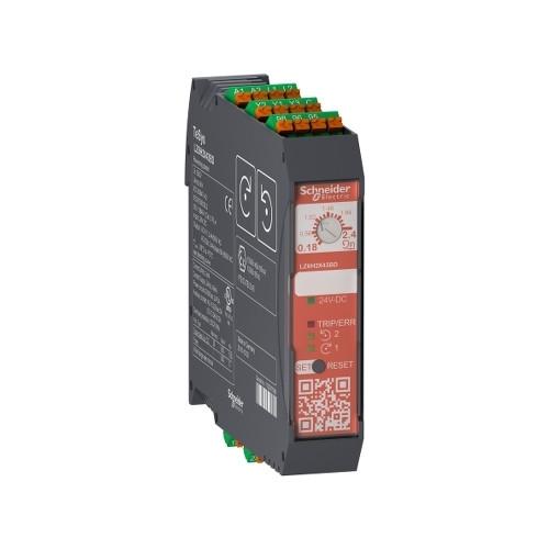 Schneider Electric, LZ8H2X43BD, TeSys H, Safety Reversing Starter, 0.75kW, 0.18-2.4 Amp, 24V DC, Spring Terminals