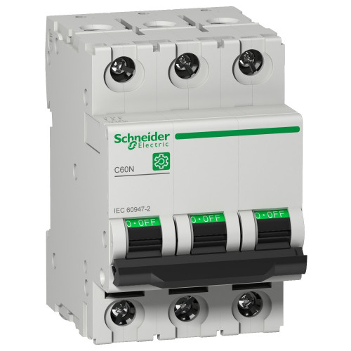 Schneider Electric, Multi 9 MCB, C60N, 3 Pole 10A, Trip Curve Type B, 10kA, Compatible With Obsolete MCB C60HB310