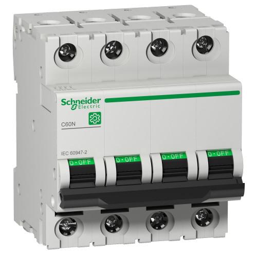 Schneider Electric, Multi 9 MCB, C60N, 4 Pole 16A, Trip Curve Type C, 10kA, Compatible With Obsolete MCB C60HC416