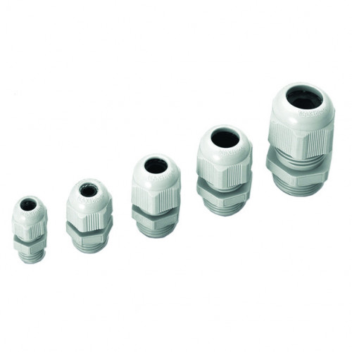 MAXIblock, Polyamide PA6.6, Reduced Entry, Grey, Metric Thread M12 x 8mm, Cable Entry Ø 2.0 - 5.0mm