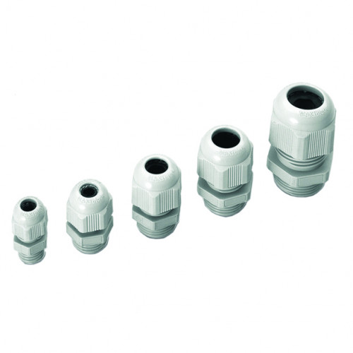 Cembre, 1901.M16, MAXIblock Polyamide PA6.6, Standard Entry, Grey, Metric Extended Thread, M16 x 15mm, Cable Entry Ø 5 - 10mm