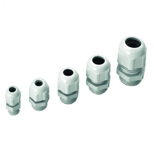 MAXIblock Polyamide PA6.6, Standard Entry, Grey, Metric Thread M16 x 8mm, Cable Entry Ø 5.0 - 10.0mm